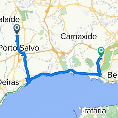 De Rua António dos Reis 8A, Porto Salvo a Avenida dos Bombeiros Voluntários de Algés, Algés
