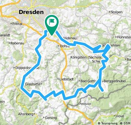 Über Breitenau inBielatal und Königstein zurück
