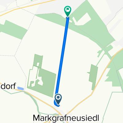 Route nach Waldstraße 4, Strasshof an der Nordbahn