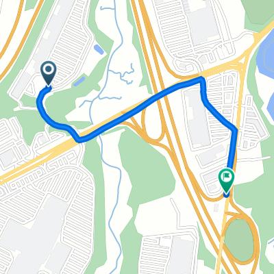 1800 Clements Bridge Rd, Woodbury to 1188 Hurffville Rd, Woodbury