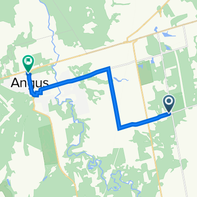 5409 25th Sideroad, Utopia to 15 Commerce Rd, Angus