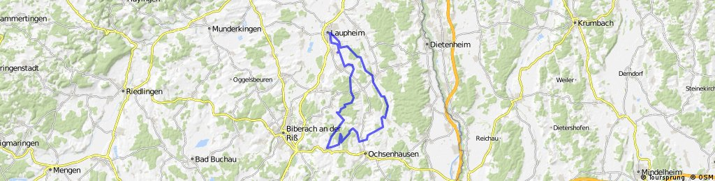 Laupheim - Ringschnait - Gutenzell - Laupheim