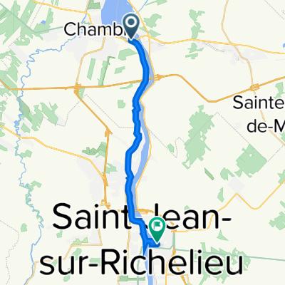 De 23 Rue Bennett, Chambly à 207 Deuxième Avenue, St-Jean-sur-Richelieu