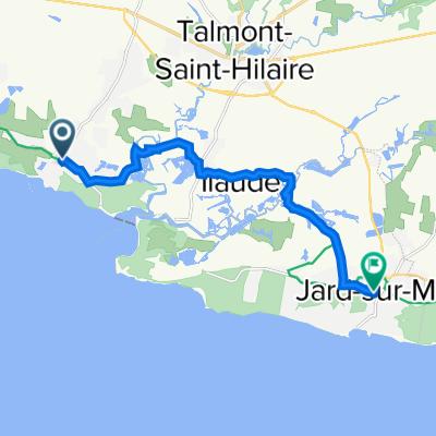 De 50 Avenue de la Mine, Talmont-Saint-Hilaire à Rue de l'Hôtel de Ville, Jard-sur-Mer
