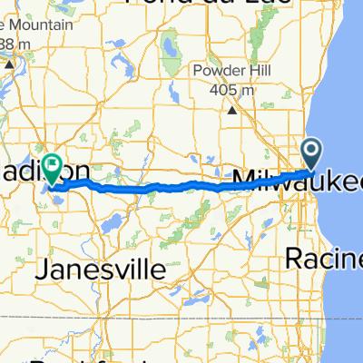 2400 E Kenwood Blvd, Milwaukee to 5954–5998 Anthony St, McFarland