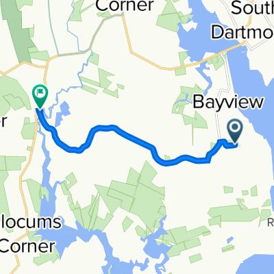 3 Nonquitt Ave, South Dartmouth to 887 Rock O'Dundee Rd, South Dartmouth