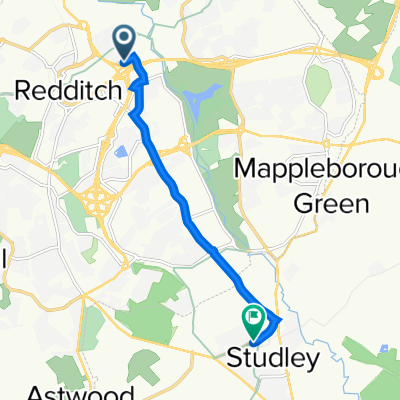 18 Sedgley Close, Redditch to 12 Station Road, Studley