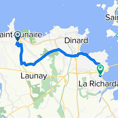 De 30 Rue de la Saudrais, Saint-Lunaire à D114, La Richardais