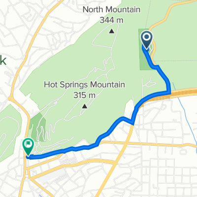 AR-7S, Hot Springs to 101 Reserve St, Hot Springs