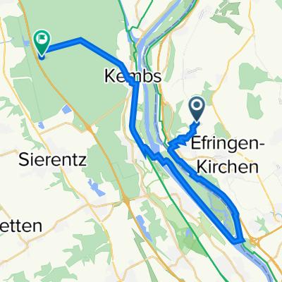 Route von Am Mittleren Weg, Efringen-Kirchen