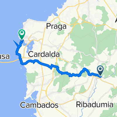 Route von Lugar Ponte Arnelas, 23, Vilanova de Arousa