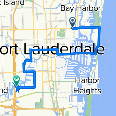 1745 E Sunrise Blvd, Fort Lauderdale to 2035 SW 19th Ave, Fort Lauderdale