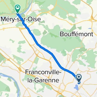 De 32 Avenue Carlier, Enghien-les-Bains à 2–12 Rue du Général de Gaulle, Auvers-sur-Oise