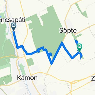 Dózsa utca 35, Gencsapáti to Unnamed Road, Söpte