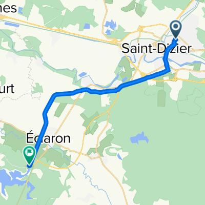 Itinéraire à partir de 78bis Rue Anatole France, Saint-Dizier