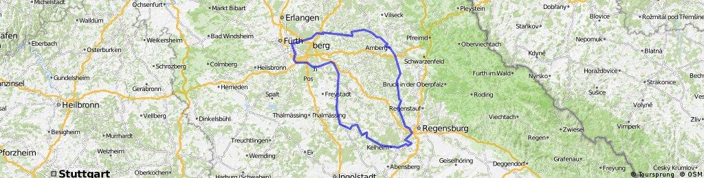 Nürnberg - 5 Flüsse Radweg (Runde) ,300km, 2011-05-19...22