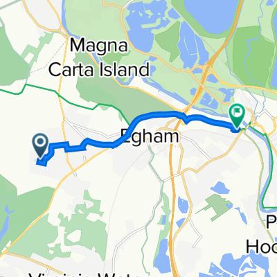 4 Laburnum Pl, Egham to Sainsbury Supermarket, The Causeway, Staines-Upon-Thames