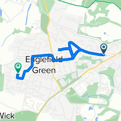 25 Middle Hill, Egham to 8 Laburnum Pl, Egham