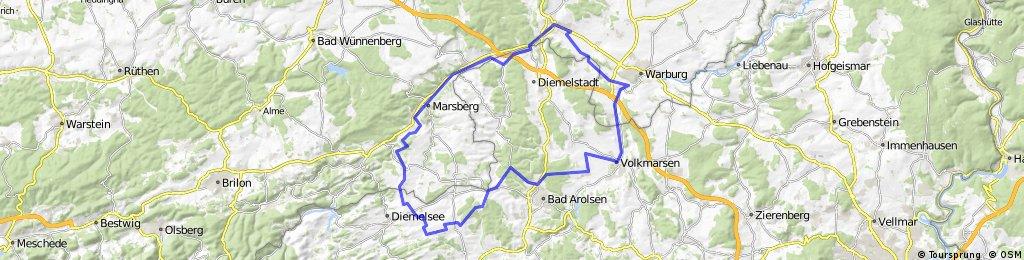 Giershagen - Arolsen - Warburg - Marsberg - Giershagen