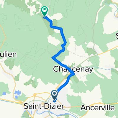 De 80 Rue Anatole France, Saint-Dizier à Rue de Saint-Bernard, Trois-Fontaines-l'Abbaye
