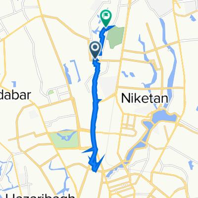 Badiuzzaman Road, Dhaka to Road No. 8 50, Dhaka