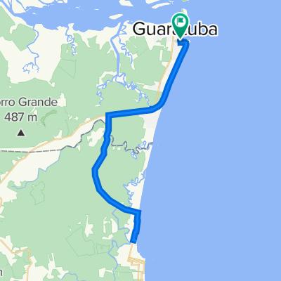 De Rua Campo Largo, 68, Guaratuba a Rua Campo Largo, 61, Guaratuba
