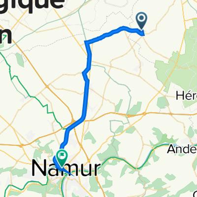 De Rue de Merdorp 22, Wasseiges à Boulevard Ernest Mélot 7, Namur