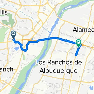 4216 Beacon Knoll Ct NW, Albuquerque to Villa Christina Rd NW, Los Ranchos de Albuquerque