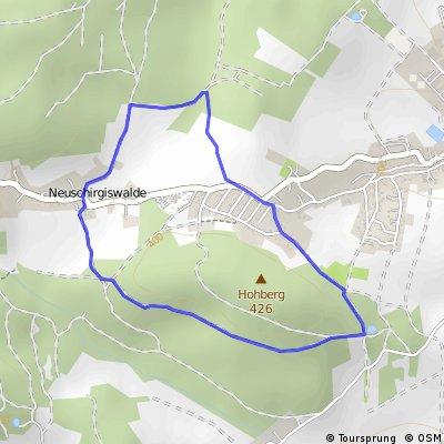 kleine Tour um den Hohberg in Schirgiswalde