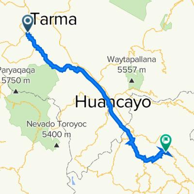 Route von Carretera Central 568-640, La Oroya