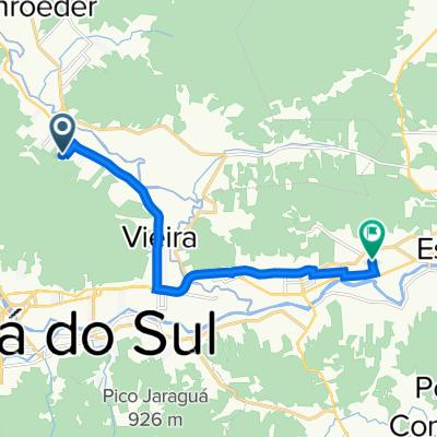 De Rua Oscar Ferreira Mendes, Jaraguá do Sul a Rua Padre Horácio Rebelo, 1–205, Guaramirim