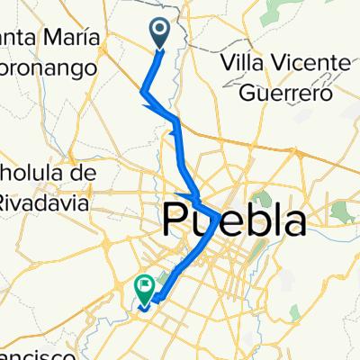 De Aldama 31b, San Lorenzo Almecatla a Claustro de Los Pelícanos 24, Heroica Puebla de Zaragoza