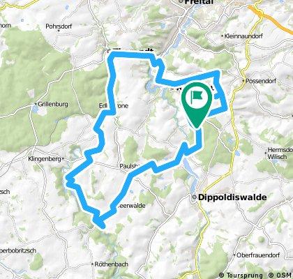 Talsperre Klingenberg mit Lärchenberg