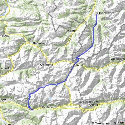 MTB Alpencross Oberstdorf - Comer See