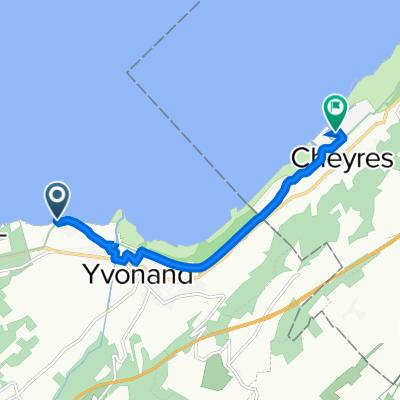 Avenue des Pins 34, Yvonand nach Chemin sous-la-Gare 2483, Cheyres