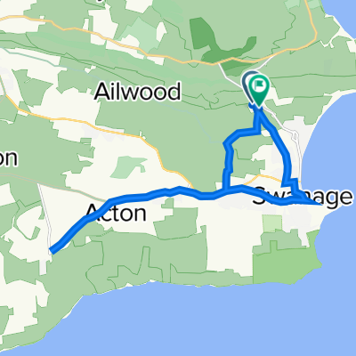 Route to Ulwell Cottage, Ulwell Road, Swanage