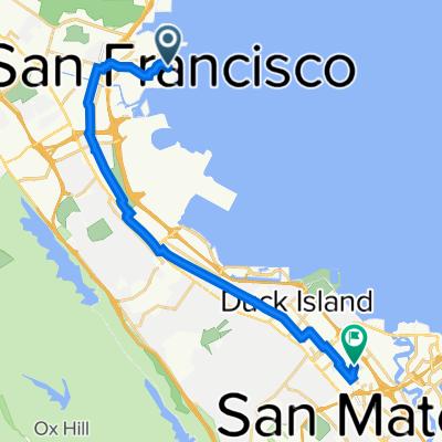 320 Dna Way, South San Francisco to 902 Sunnybrae Blvd, San Mateo