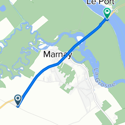 3 Rue du Champ Borné, Marnay to D6, Marnay