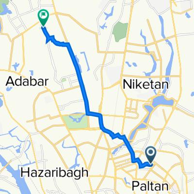 Shiddheswari - Malibag Mor Road 56, Dhaka to Master Para Road 6, Dhaka