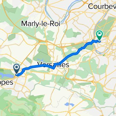 De 3 Mail des Thuyas, Montigny-le-Bretonneux à 68 Rue d'Aguesseau, Boulogne-Billancourt