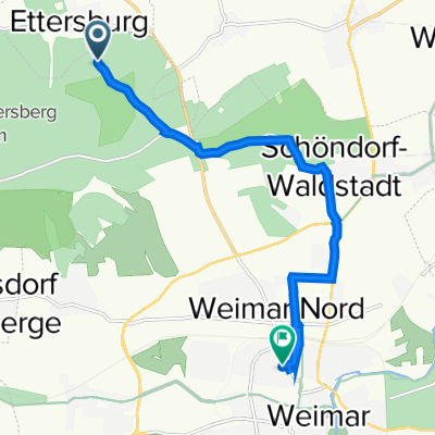Unnamed Road, Weimar nach Röhrstraße 11, Weimar