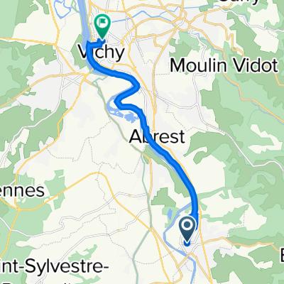 De 1 Rue de Verdun, Saint-Yorre à 6 Avenue Victoria, Vichy
