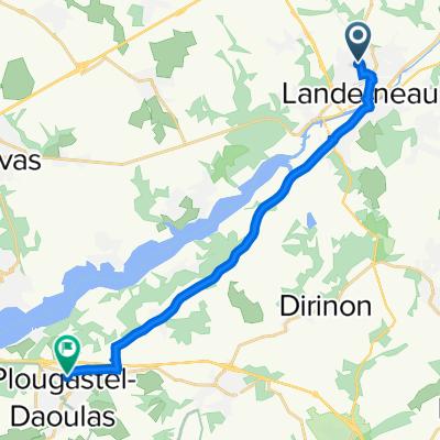 De 4 Rue Corneille, Landerneau à 10 Rue Hervé Morvan, Plougastel-Daoulas