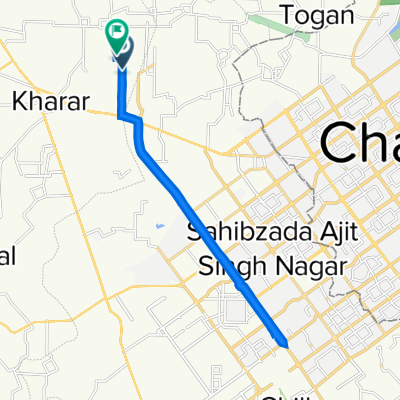 Route from Jandpur Road, Mohali