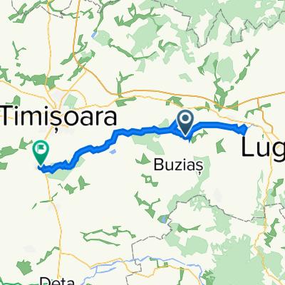Comuna Racoviță to Strada a XII-a, Șag