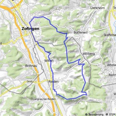 Zofingen - Reidermoos - Reiden Trail - Wikon - Zofingen