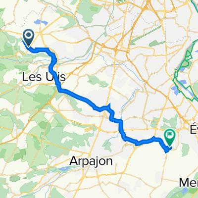 De 9 Allée des Églantines, Saint-Aubin à 39 Allée Arnaud Massy, Bondoufle