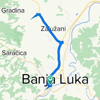 Солунска 8, Бања Лука to Краља Николе 21, Бања Лука