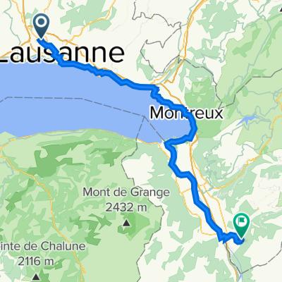 Itinéraire à partir de Sur la Croix 12, Renens VD