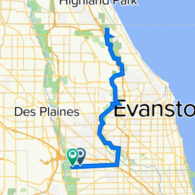 W Foster Ave, Chicago to 8661 W Foster Ave, Chicago